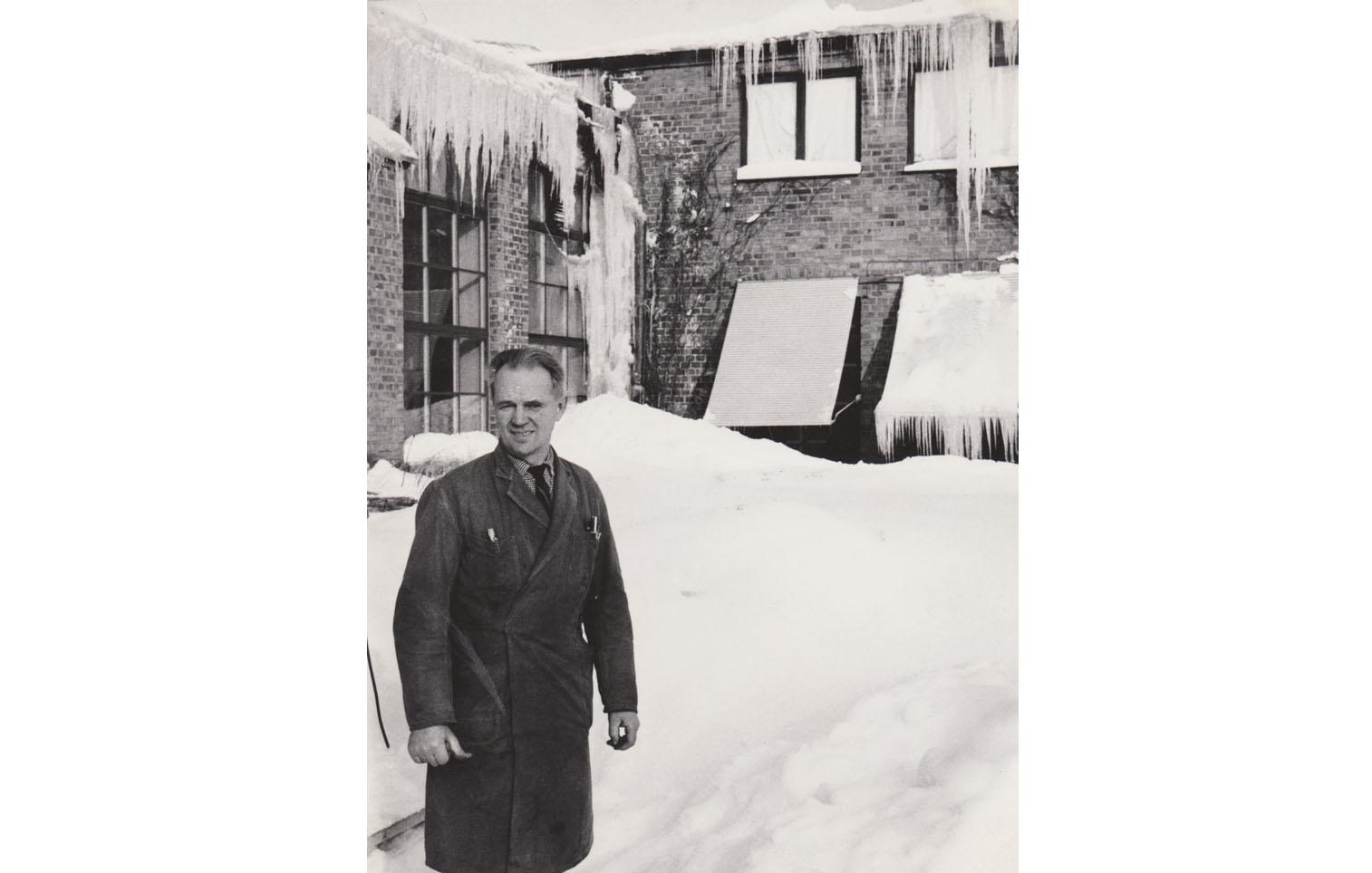 Arbetsledare Alf Sundberg, 8 feb 1945, -32°