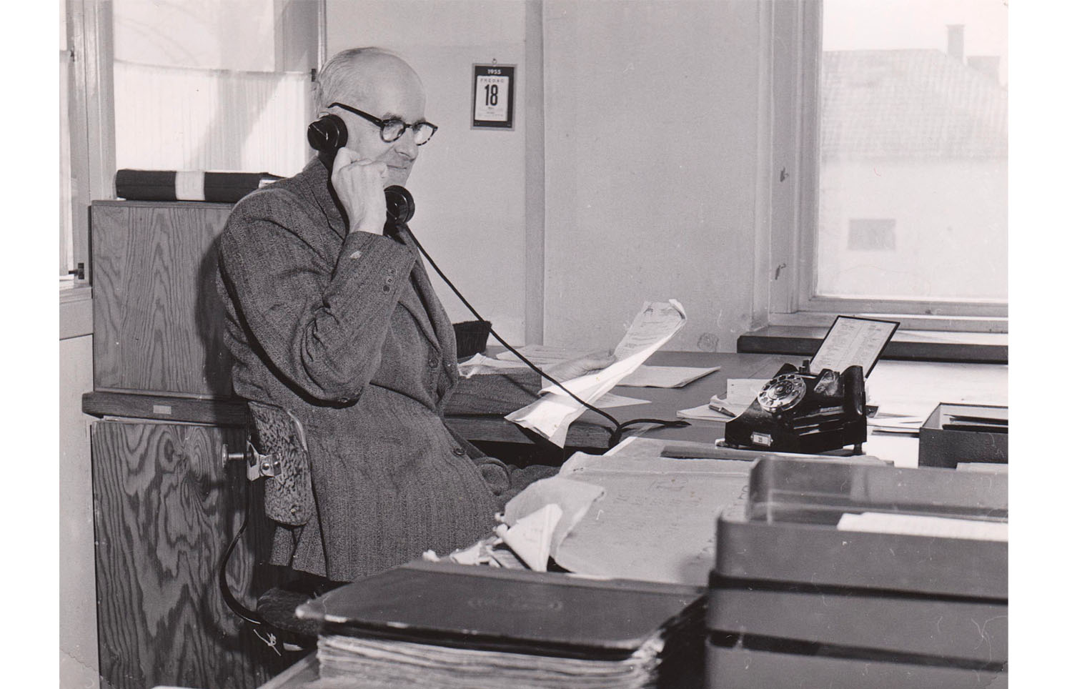 Ingenjör Herbert Karlsson. 1955