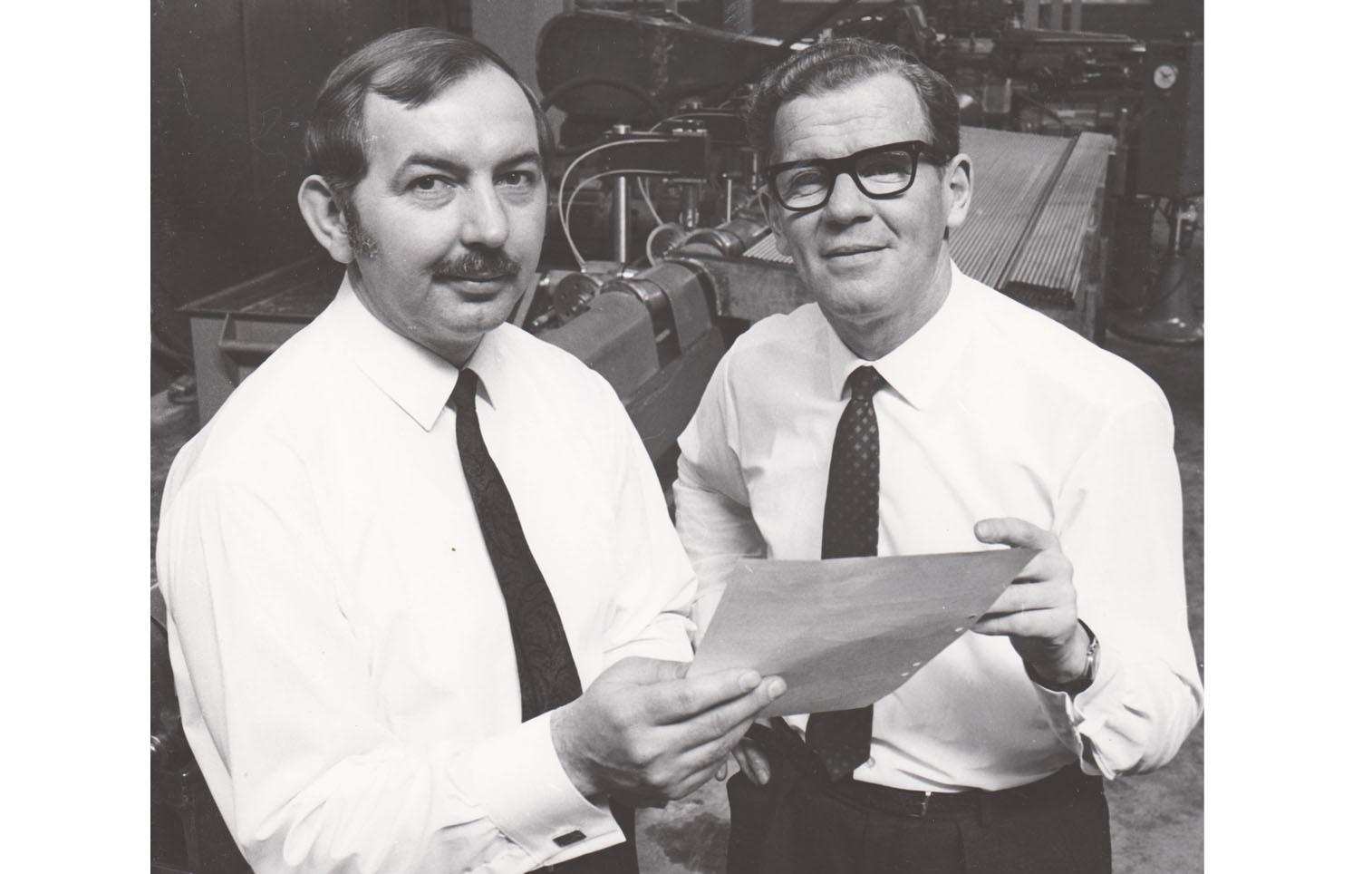 Ingenjörerna Josef Michna och Bengt Unenge
