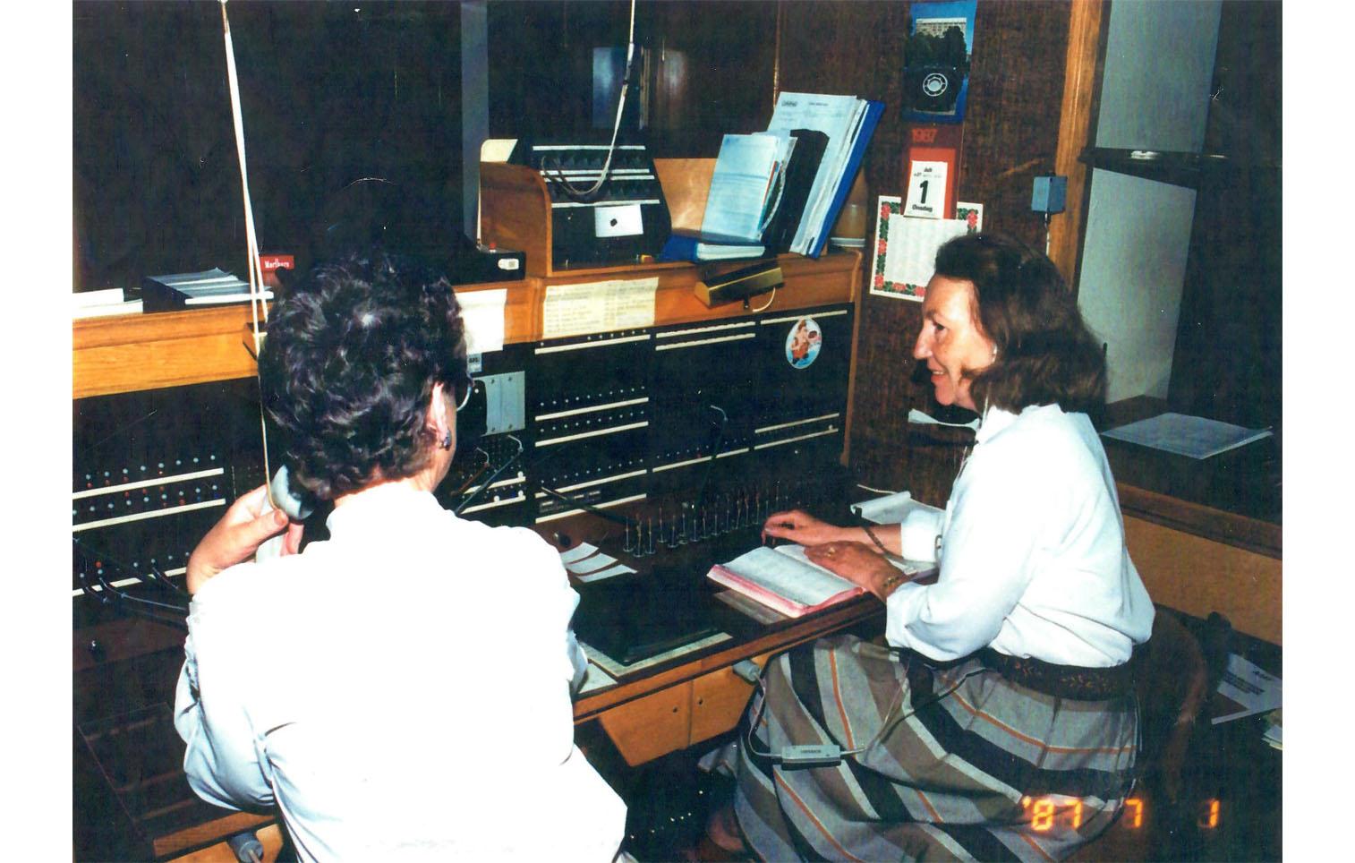 Ingrid Wetterlind och Inger Haller, 1987