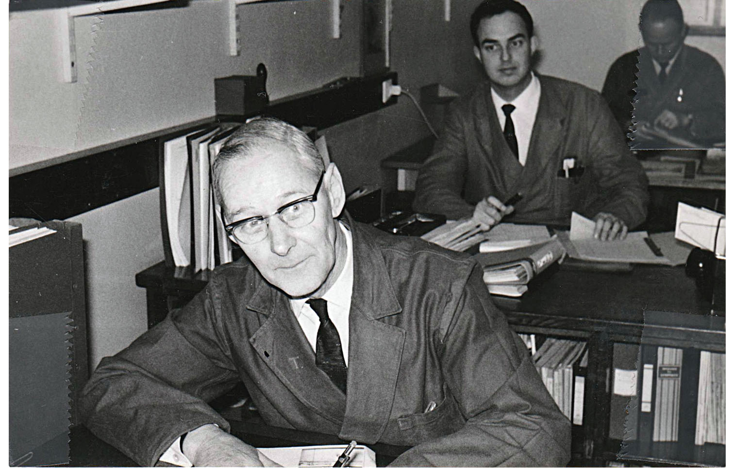 Ingenjörerna Isidor Therén och Piter van den Berg, P.T.R.